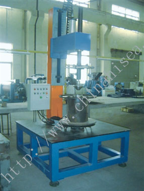 Vertical rotary table welder
