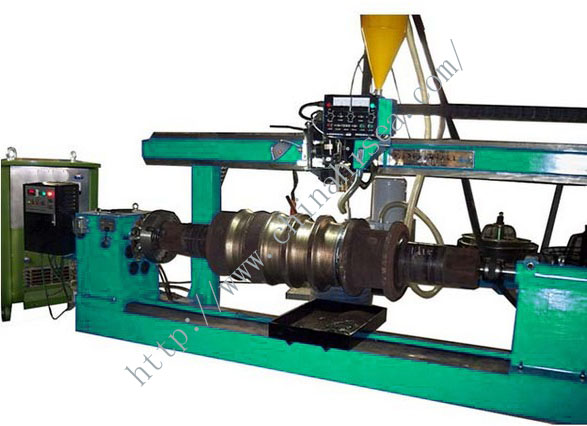 Mill roll built-up welding equipment