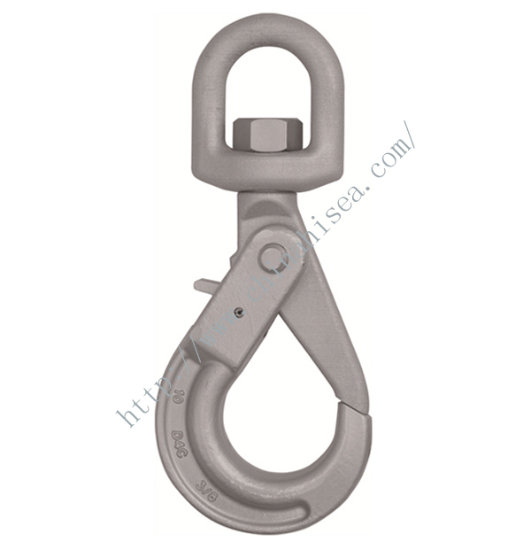 Grade 100 Eye Swivel Self Locking Hook