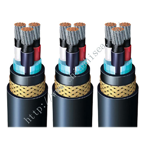 XLPE insulated marine power cables