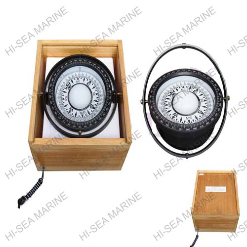 Plastic Magnetic Compass in Wooden Box