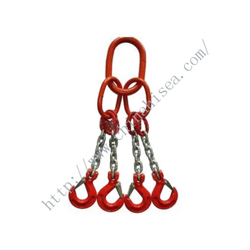 Four Legs Chain Sling with Hooks