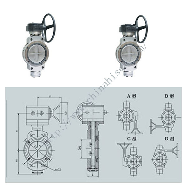 Worm Gear Transmission Butterfly Valve Pictures and Drawing