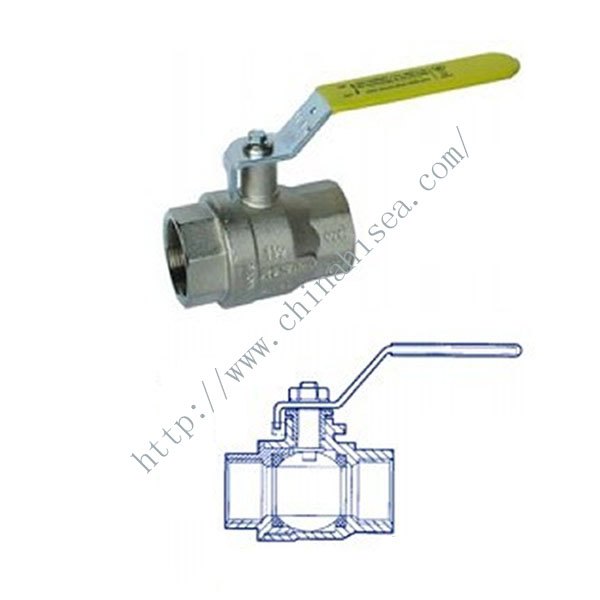 Marine Nickel Plated Brass Ball Valve