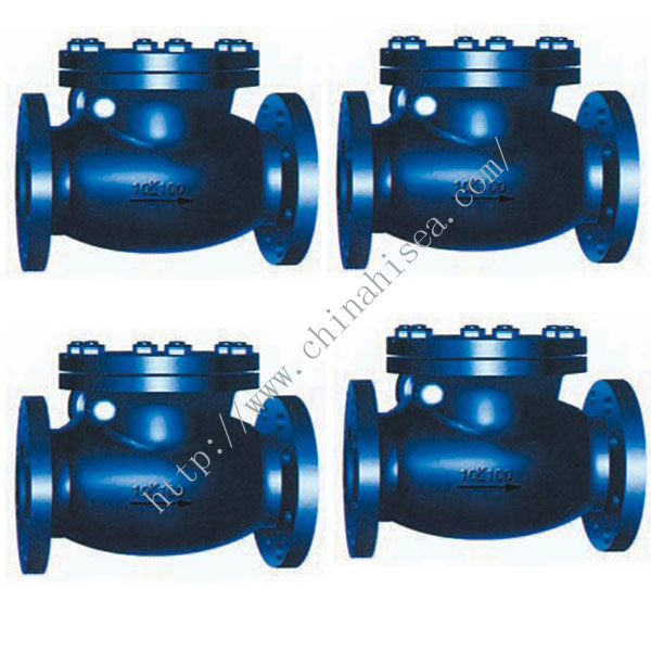 Marine Cast Iron Swing Check Valve JIS F7373 10K