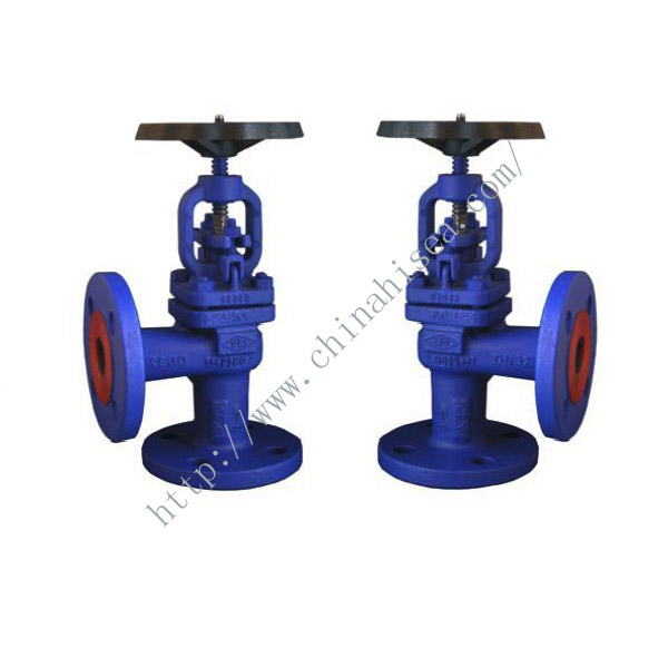 Marine Angle Pattern PN40 Rated Cast Steel Globe Valve