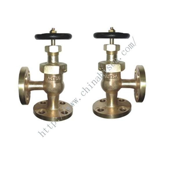 Marine Bronze Screw Down Angle Globe Check Valve