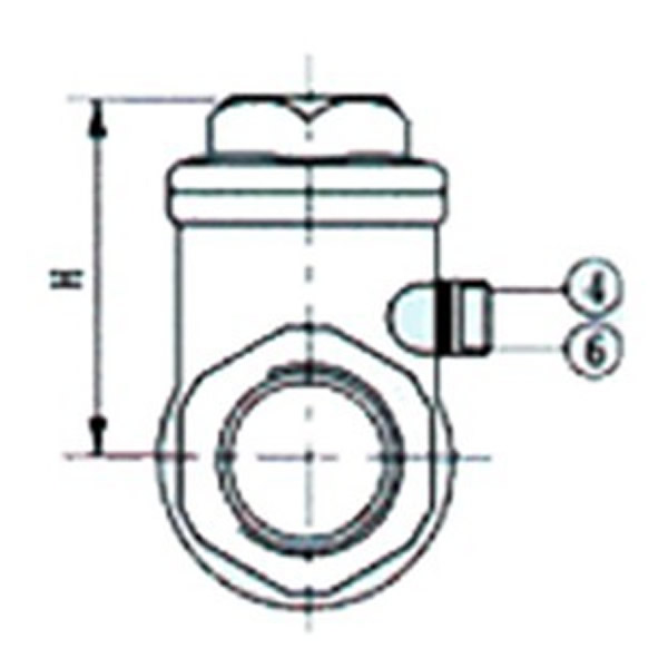 H14W Internal Thread Check Valve Drawing
