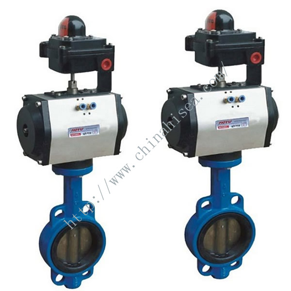 Pneumatic Butterfly Valve In Warehouse