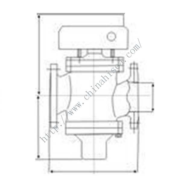 Electric Control Temperature Regulating Valve Drawing