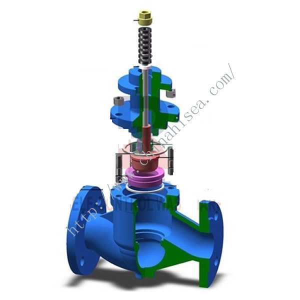 Pneumatic Diaphram Single Regulating Valve Inner Side