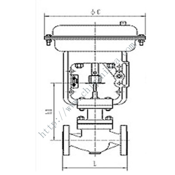 Pneumatic Diaphram Single Regulating Valve Working Theory