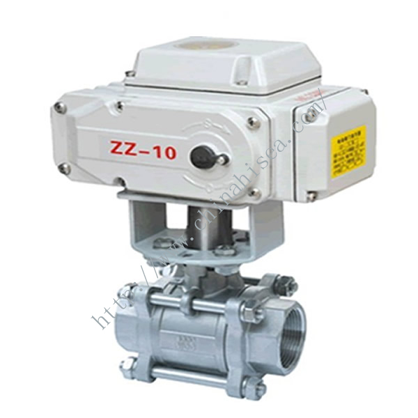 Electric Three Pieces Ball Valve In Factory