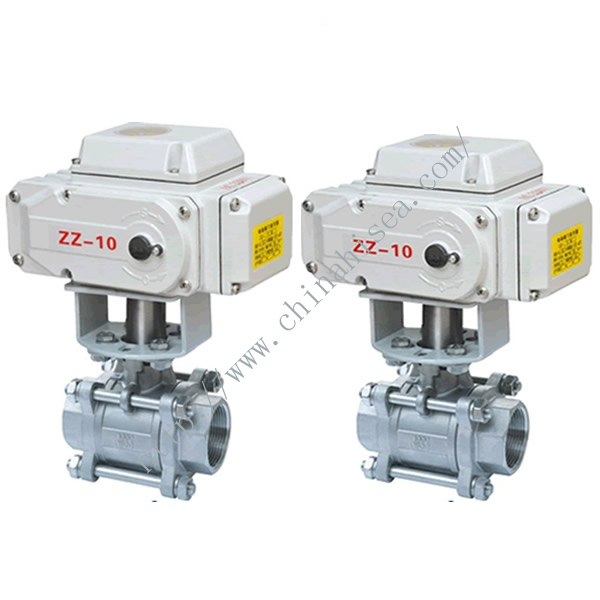 Electric Three Pieces Ball Valve