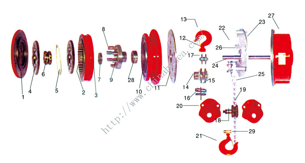 DHK Type High Speed Electric Chain Hoist-construction drawing.jpg
