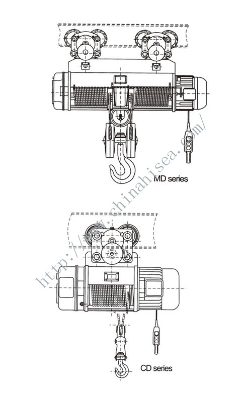 cd1 md1 type wire rope electric hoist cd1 md1 type wire