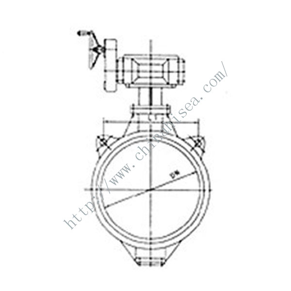 Weld Butterfly Valve Drawing