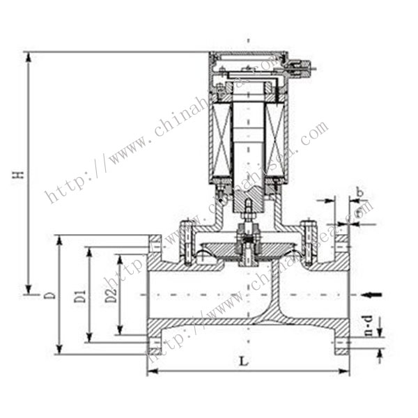 Gas Flange Solenoid Valve Drawing
