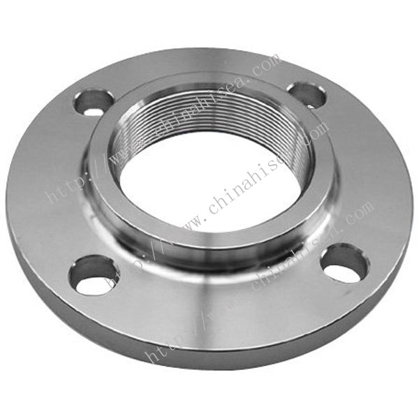 Class 600 stainless steel threaded flange