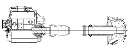 Designing solution of submerged cutter driving system of 3500m3 cutter dredger.jpg