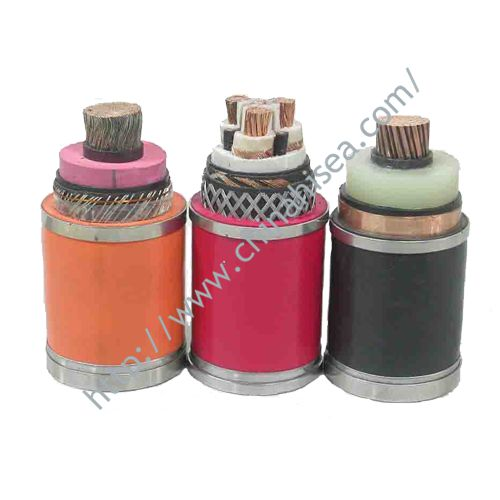 Three core XLPE insulated power cable
