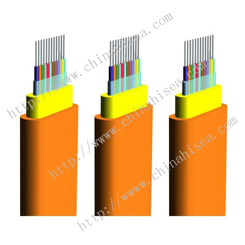 Ribbon flat fiber optic cable GJDFJV