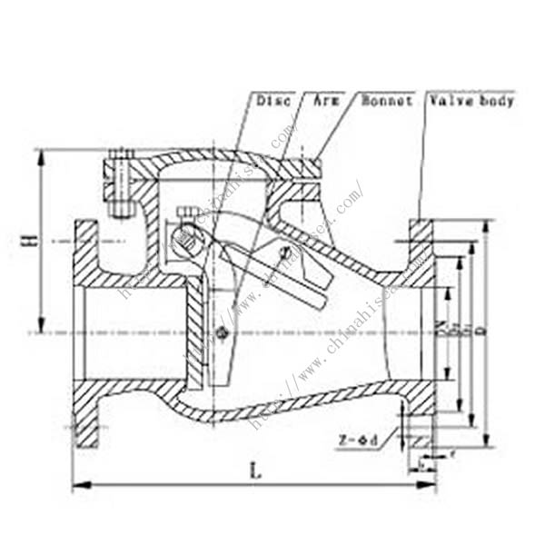 Water Treatment Valve Drawing