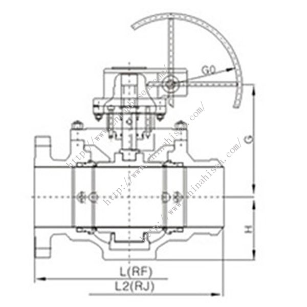 Natural Gas Ball Valve Drawing Size