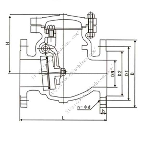 Chemical Industry Check Valve Drawing